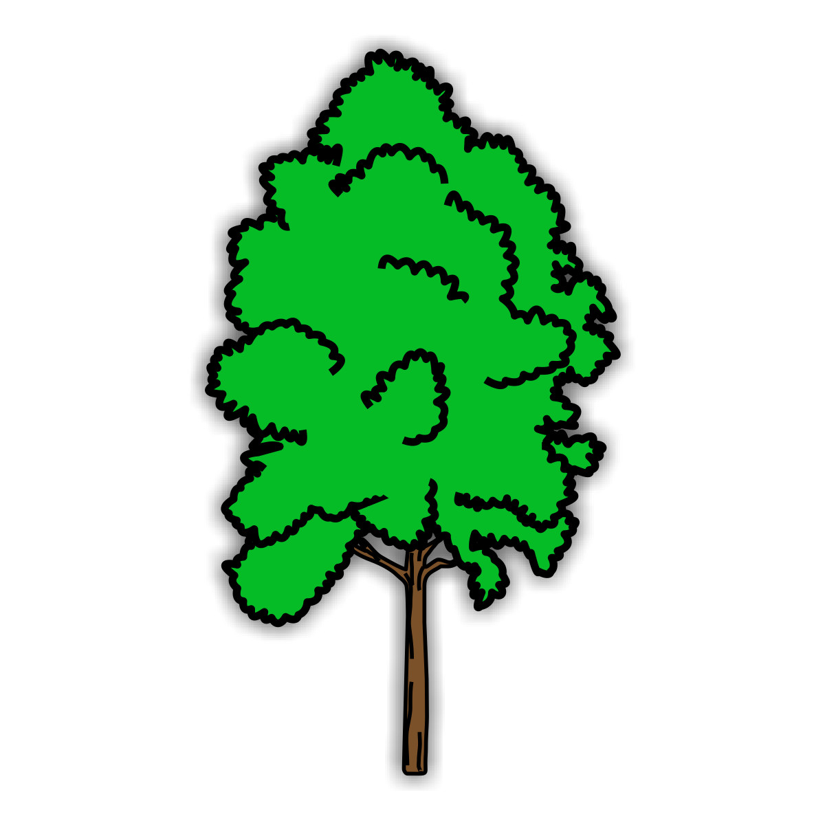 Coloring pages trees - free downloads