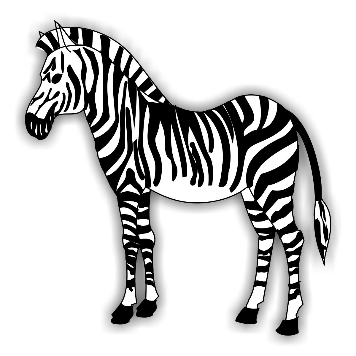 Free coloring pages of zebra desenhos for Zebra without stripes coloring page